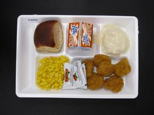 Primary view of object titled 'Student Lunch Tray: 01_20110217_01B6048'.