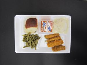 Primary view of object titled 'Student Lunch Tray: 01_20110217_01B6085'.