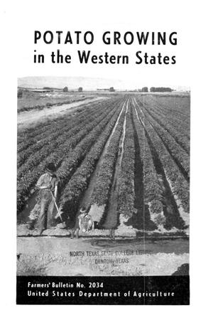 Primary view of object titled 'Potato growing in the western states.'.