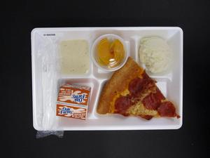 Primary view of object titled 'Student Lunch Tray: 01_20110217_01B6098'.