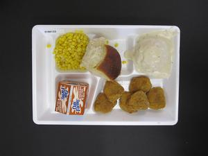 Primary view of object titled 'Student Lunch Tray: 01_20110217_01B6122'.
