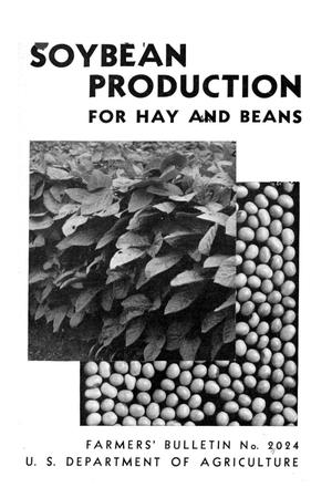 Primary view of object titled 'Soybean production for hay and beans.'.