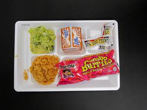 Primary view of object titled 'Student Lunch Tray: 01_20110217_01C4179'.