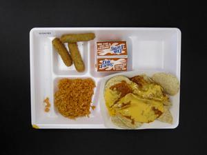 Primary view of object titled 'Student Lunch Tray: 01_20110217_01C4183'.