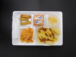 Primary view of object titled 'Student Lunch Tray: 01_20110217_01C4281'.