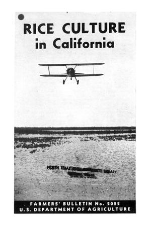 Primary view of object titled 'Rice culture in California.'.
