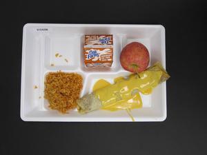 Primary view of object titled 'Student Lunch Tray: 01_20110217_01C4296'.