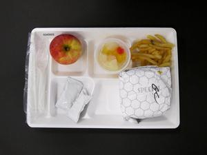 Primary view of object titled 'Student Lunch Tray: 02_20110328_02A5602'.