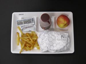 Primary view of object titled 'Student Lunch Tray: 02_20110328_02A5704'.