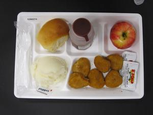 Primary view of object titled 'Student Lunch Tray: 02_20110328_02B6074'.