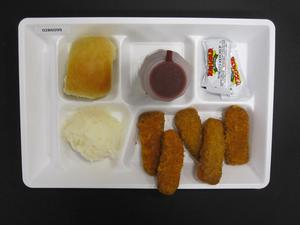 Primary view of object titled 'Student Lunch Tray: 02_20110328_02B6099'.