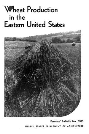 Primary view of object titled 'Wheat production in the eastern United States.'.