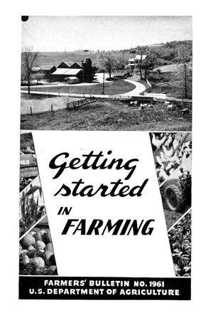 Primary view of object titled 'Getting started in farming.'.
