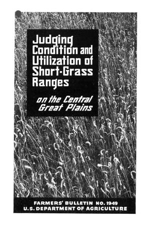 Primary view of object titled 'Judging condition and utilization of short-grass ranges on the central Great Plains.'.