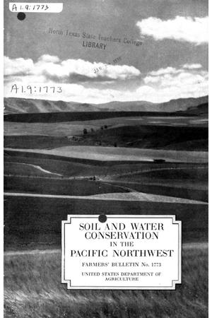 Primary view of object titled 'Soil and water conservation in the Pacific Northwest.'.