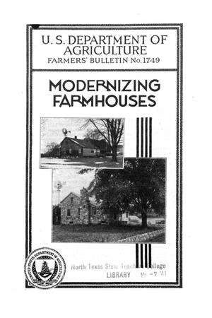 Primary view of object titled 'Modernizing farmhouses.'.