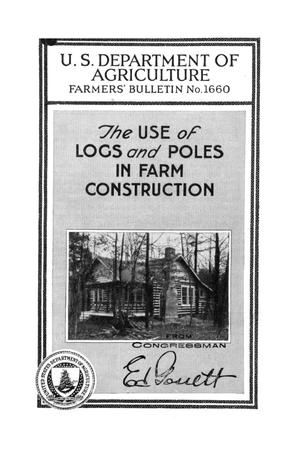 Primary view of object titled 'The use of logs and poles in farm construction.'.