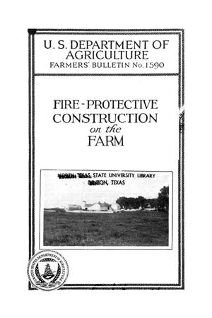 Primary view of object titled 'Fire-protective construction on the farm.'.
