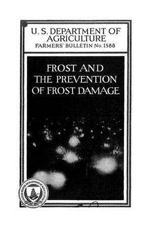 Primary view of object titled 'Frost and the prevention of frost damage.'.