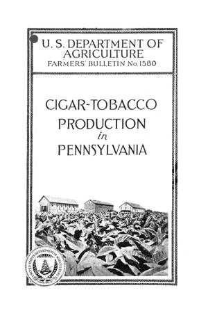 Primary view of object titled 'Cigar-tobacco production in Pennsylvania.'.