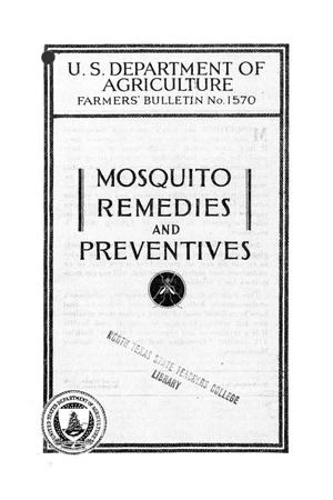 Primary view of object titled 'Mosquito remedies and preventives.'.
