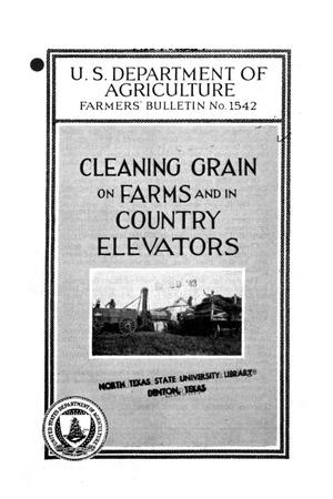 Primary view of object titled 'Cleaning grain on farms and in country elevators.'.