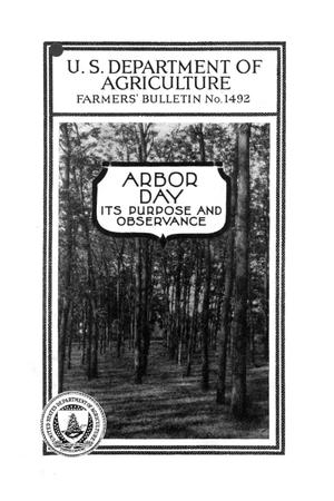 Primary view of object titled 'Arbor day, its purpose and observance.'.