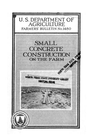 Primary view of object titled 'Small Concrete Construction on the Farm.'.