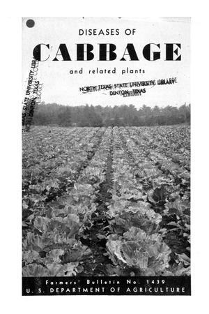 Primary view of object titled 'Diseases of cabbage and related plants.'.