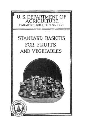 Primary view of object titled 'Standard baskets for fruits and vegetables.'.