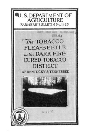 Primary view of The tobacco flea-beetle in the dark fire-cured tobacco district of Kentucky and Tennessee.