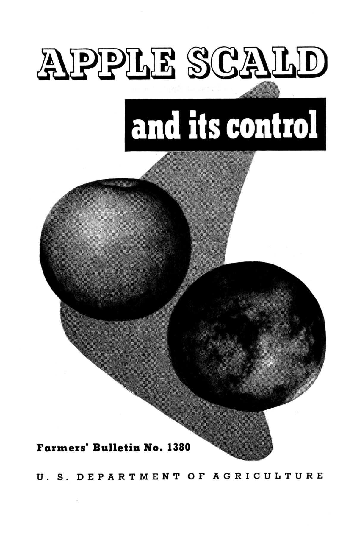 Apple scald and its control.                                                                                                      Front Cover
