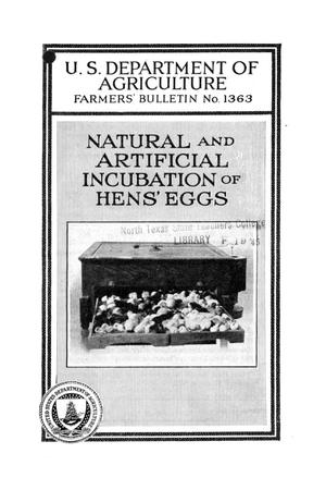 Primary view of object titled 'Natural and artificial incubation of hens' eggs.'.