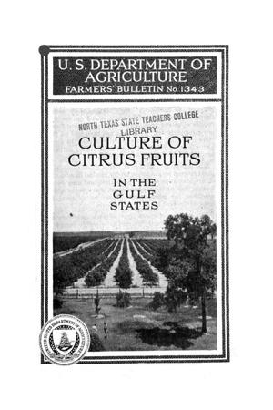 Primary view of object titled 'Culture of citrus fruits in the Gulf States.'.