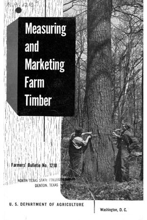 Primary view of object titled 'Measuring and marketing farm timber.'.