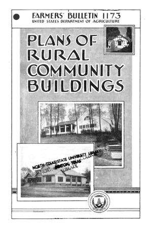 Primary view of object titled 'Plans of rural community buildings.'.