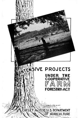 Intensive projects under the Cooperative farm forestry act.