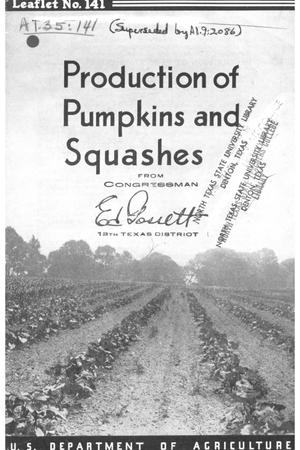 Primary view of object titled 'Production of pumpkins and squashes.'.