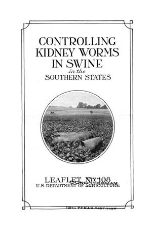 Primary view of object titled 'Controlling Kidney Worms in Swine in the Southern States.'.
