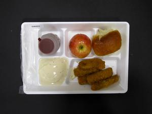 Primary view of object titled 'Student Lunch Tray: 02_20110329_02B5833'.
