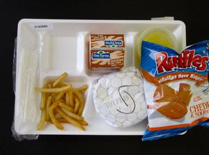 Primary view of object titled 'Student Lunch Tray: 01_20110330_01A5880'.