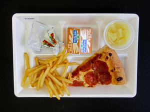 Primary view of object titled 'Student Lunch Tray: 01_20110330_01A5887'.