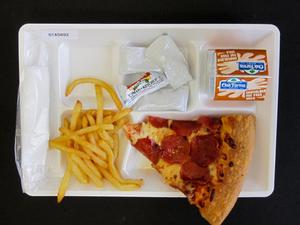 Primary view of object titled 'Student Lunch Tray: 01_20110330_01A5892'.