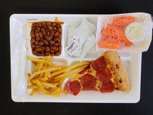 Primary view of object titled 'Student Lunch Tray: 01_20110330_01A5903'.
