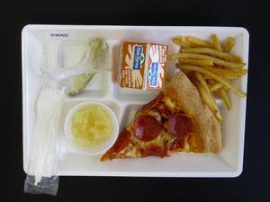Primary view of object titled 'Student Lunch Tray: 01_20110330_01A5922'.