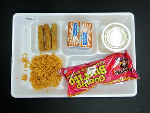 Primary view of object titled 'Student Lunch Tray: 01_20110330_01C5879'.