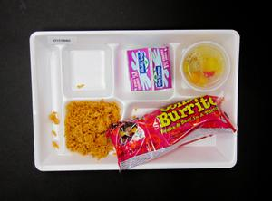 Primary view of object titled 'Student Lunch Tray: 01_20110330_01C5880'.