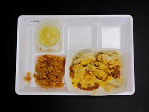 Primary view of object titled 'Student Lunch Tray: 01_20110330_01C5882'.