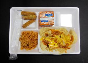 Primary view of object titled 'Student Lunch Tray: 01_20110330_01C5888'.