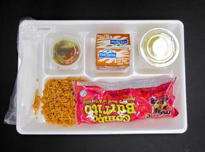 Primary view of object titled 'Student Lunch Tray: 01_20110330_01C5891'.